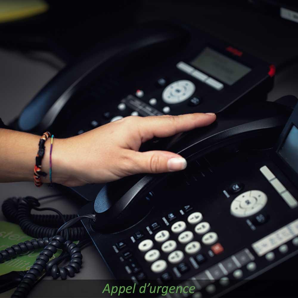 Appel d'urgence téléassistance